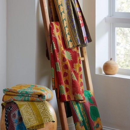 One-of-a-Kind Kantha Throw