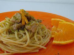 spaghetti pesce spada e arancia