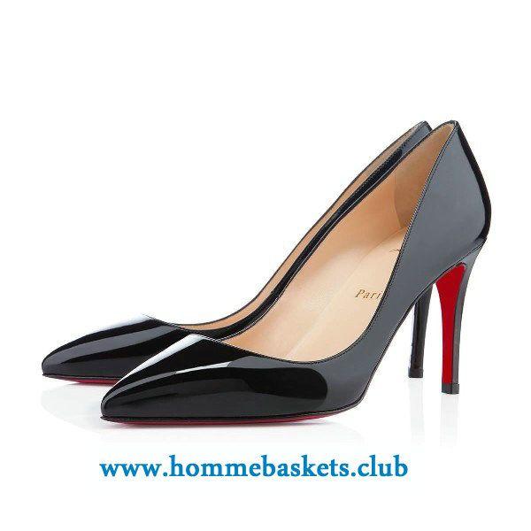 site réputé 189b0 e7899 Christian Louboutin Femme Pigalle Vernis 85 mm NOIR ...