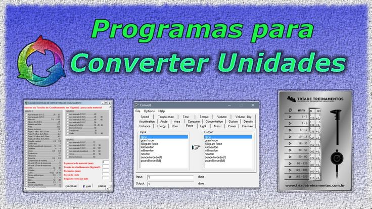 Programas para conversão de unidades, muito útil em marcenaria e mecânica