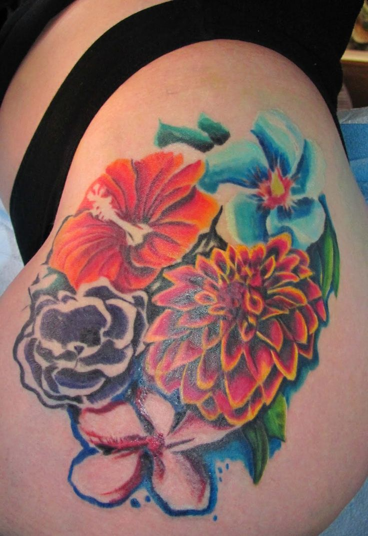 38 best tropical hibiscus flower tattoo images on for Hawaiian flower tattoos meaning