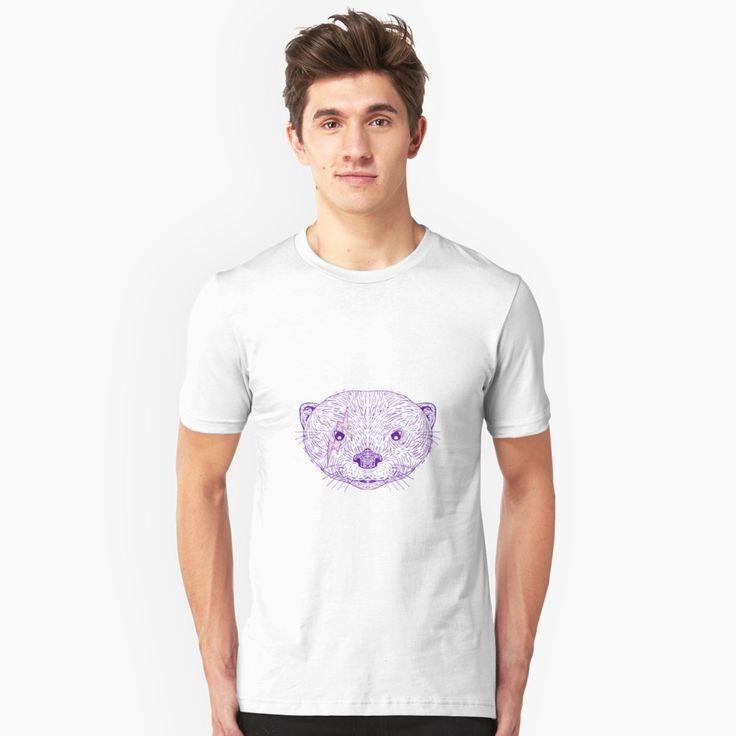 """Otter Head Lightning Bolt Drawing"" Unisex T-Shirt by patrimonio   Redbubble  #otter #lightningbolt #tshirt"