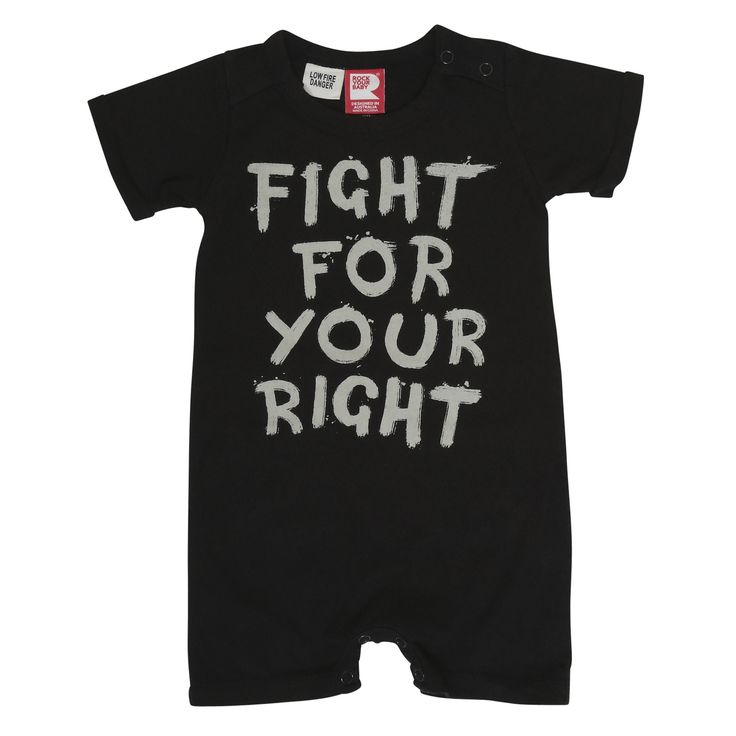Fight For Your Right Playsuit | Rock Your Baby | SS15/16