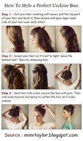 PinTutorials: How To Style a Perfect Undone Bun