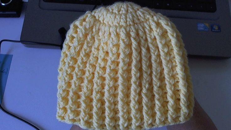 Learn to crochet Easy Ribbed Beanie/Cap Style 1 (Tambien en Español), Yolanda Soto Lopez