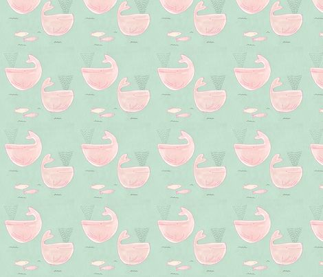 whales fabric by t-w-i-n-k-l-e on Spoonflower - custom fabric