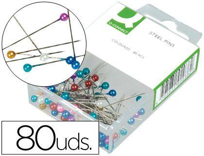Cajita de 80 agujas de señalización ¡Para los tablones de corcho¡