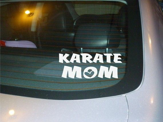 Karate Mom window car decal vinyl sticker NEW by OodlesDecals, $4.50
