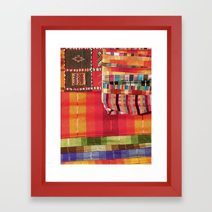 Buy V27 Multi Colored Traditional Moroccan Lovely Textile Texture. Framed Art Print by mr0frankenstein. Worldwide shipping available at Society6.com. Just one of millions of high quality products available.