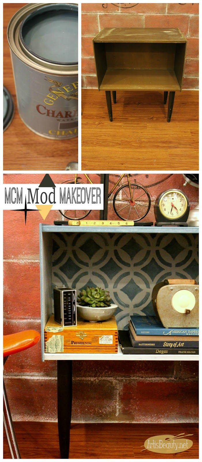 ART IS BEAUTY: MOD cabinet given a FRESH START with General Finishes