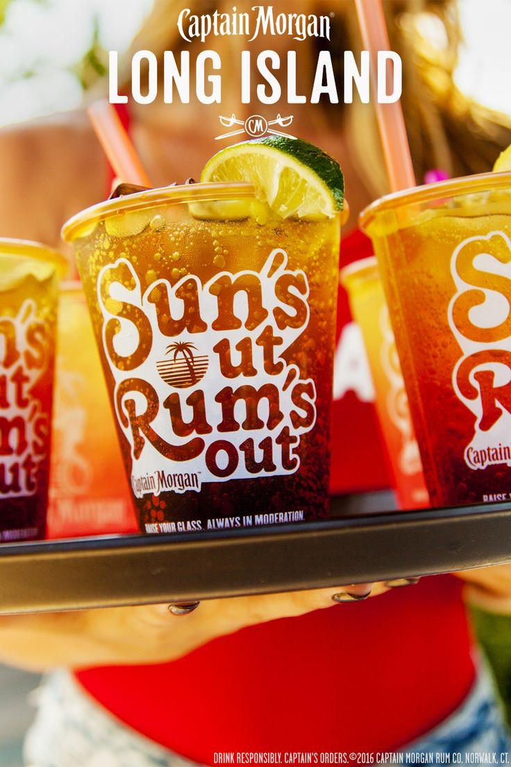 Make your BBQ more perfect with a Captain's Long Island. Recipe: 0.5 oz Captain Morgan Original Spiced Rum 0.5 oz Captain Morgan White Rum 2 oz light lemonade 0.25 oz fresh lemon juice 2 oz. cola  Get more rum recipes at https://us.captainmorgan.com/rum-cocktails/?utm_source=pinterest&utm_medium=social&utm_term=bbq&utm_content=long_island&utm_campaign=recipe