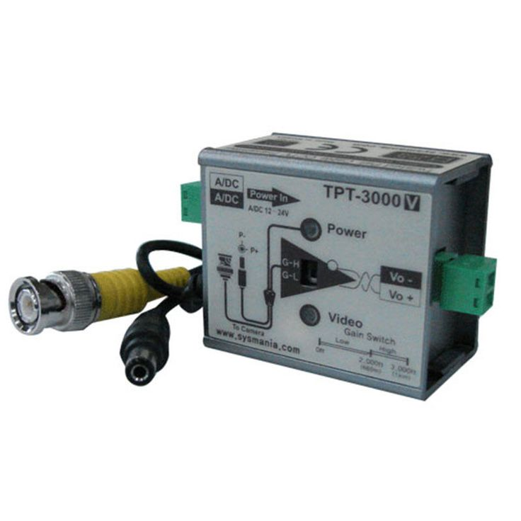 Sysmania UTP TPT-3000V Twisted Pair Cable Transmitter with Video Signal New #SysmaniaAllimex