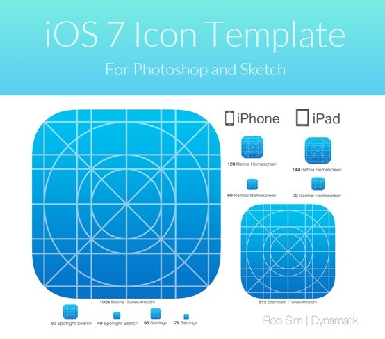 IOS 7 App Icon Template