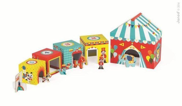 Piramida wieża ze zwierzątkami Cyrk - zabawka dla dzieci
