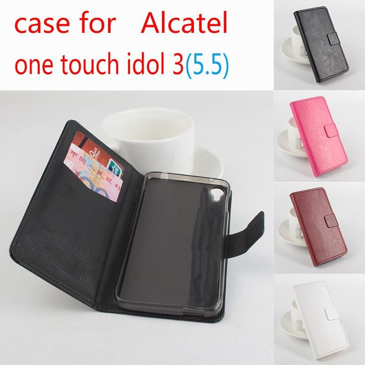 For Alcatel One Touch idol 3 5.5 inch Leather Case + hard Back cover For Alcatel One Touch idol 3 5.5 inch in  Phone Case Cover #Affiliate