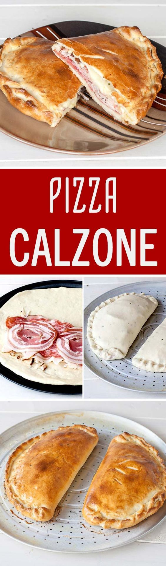 Home-made pizza calzone loaded with various Italian cold cuts, packed into a delicious thin crust sprinkled with fresh oregano, totally made from scratch.