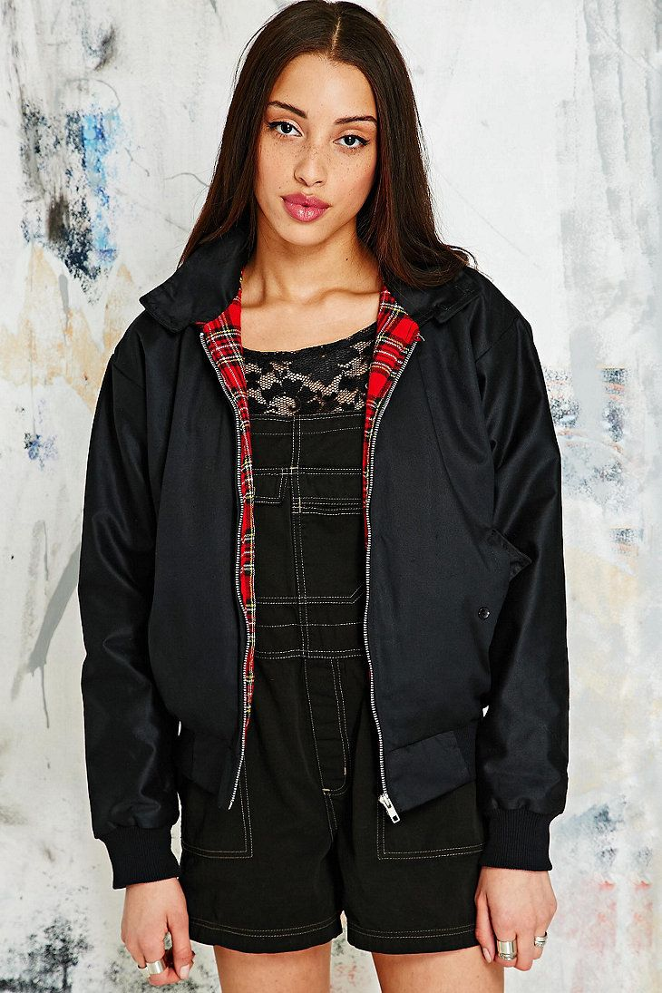 Vintage Renewal Harrington Jacket in Black