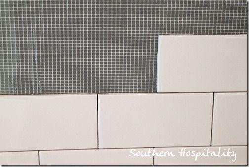 how to install subway tile backsplash with bondera