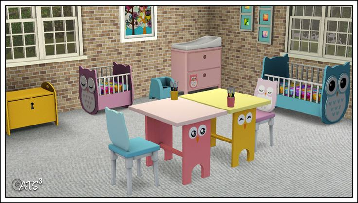 Around the Sims 3   Custom Content Downloads  Objects   Kids   Owl Nursery