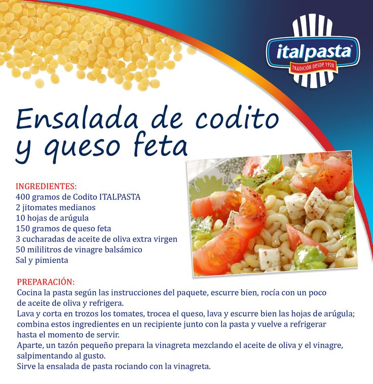 Para preparar hoy: una receta fácil, práctica y con ingredientes naturalmente deliciosos… con pasta ITALPASTA, por supuesto!!