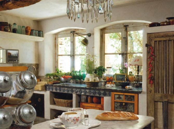 92 best images about decor kitchens french italian - Cuisine equipee style campagne ...