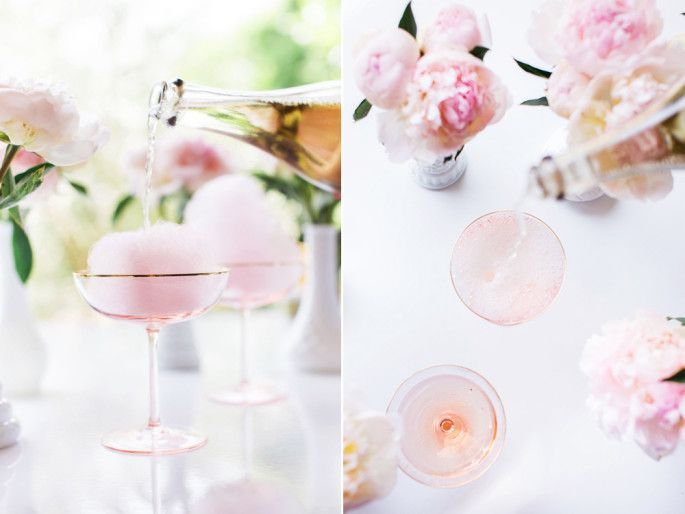 Champagnecocktail med fläder och sockervadd | Elle mat & vin