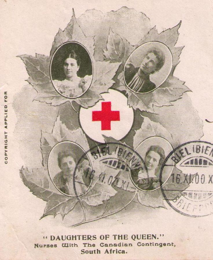 Postal Cover: Canada sent troops overseas for the 1st time to serve in the South African (Boer) War. Over 7000 Canadians including 12 nurses served overseas 1899-1902. The 1st group of nurses sailed with the 2nd Canadian Contingent arriving in Capetown between Feb 17 & Mar 21, 1900. The 4 nurses: Ms D Hercum, Ms M Horne, Ms M Macdonald & Ms M.P Richardson were assigned to Col. G.S Ryerson, Canadian Commissioner of the British Red Cross Society & saw active service stationed at Bloemfontein