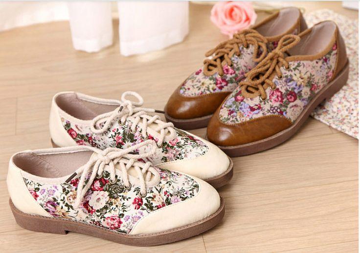 бесплатная доставка, 2014 весной и летом шнуровкой ботинки моды опрятный стиль печати лоскутное женские туфли на платформе, Оксфорд обувь, принадлежащий категории Оксфорды и относящийся к Обувь на сайте AliExpress.com