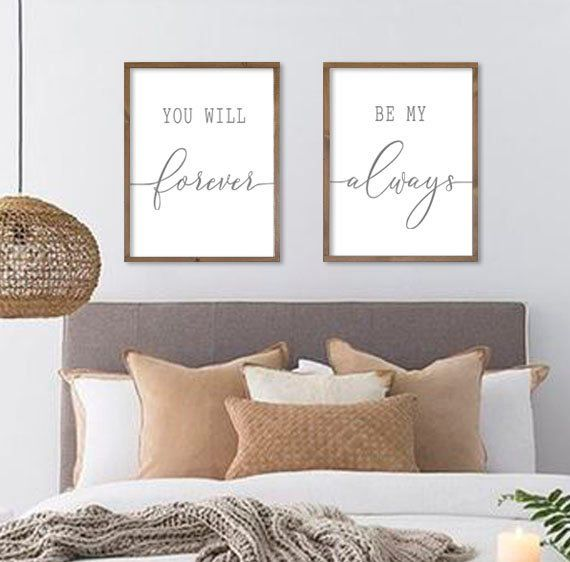 Bedroom Wall Decor You Will Forever Be My Always Wall Decor