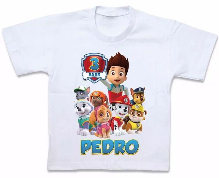 blusa camiseta personalizada patrulha canina paw patrol