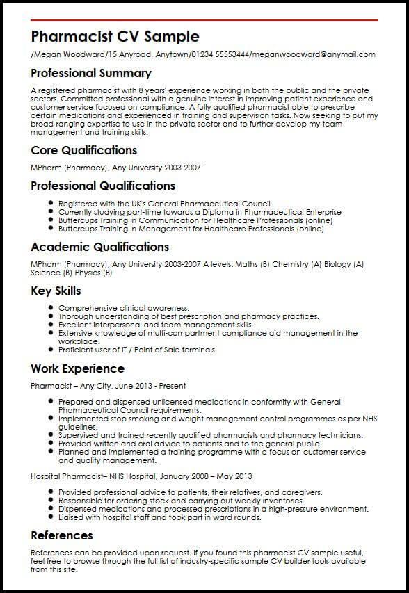 D Pharmacy Resume Format | Resume Format | Resume examples ...