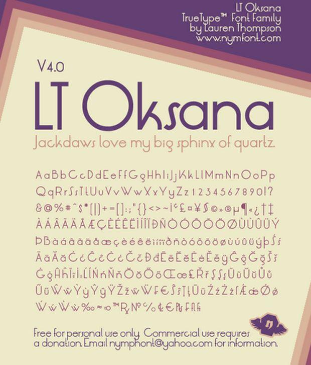 LT Oksana Font V4.0