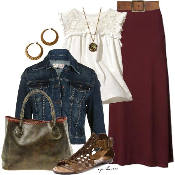 Maxi Skirt by cynthia335 on Polyvore featuring Firetrap, Naughty Monkey, Ash, Lucky Brand, Beyond Rings, Bed Stu and H&M
