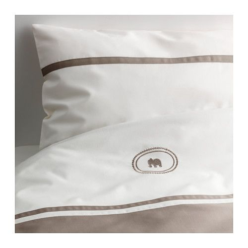 IKEA - CHARMTROLL, Crib duvet cover/pillowcase, , Made of cotton and lyocell, both natural materials that are soft against the skin. Lyocell absorbs and transports moisture away and maintains a comfortable sleeping temperature all night long.
