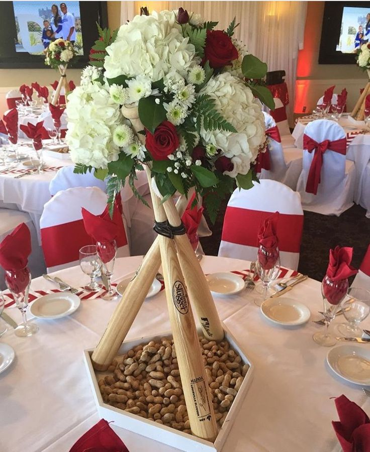 Baseball Wedding Centerpiece