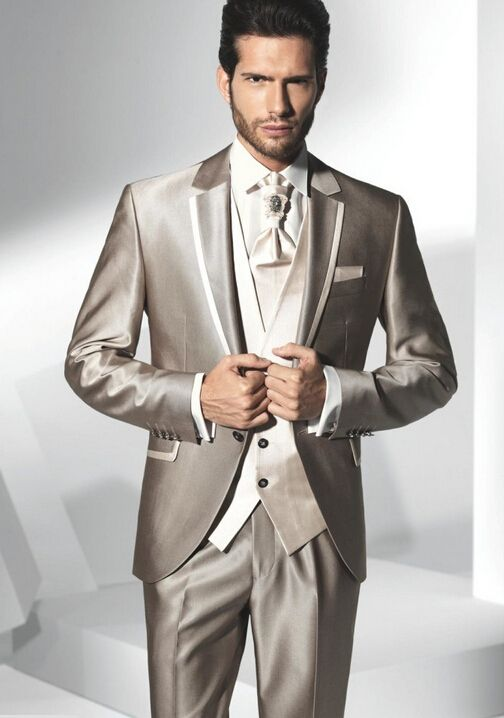 Gentleman Western Style Clothes Male Suits  Wedding Suits For Man Groomdmen Tuxedos