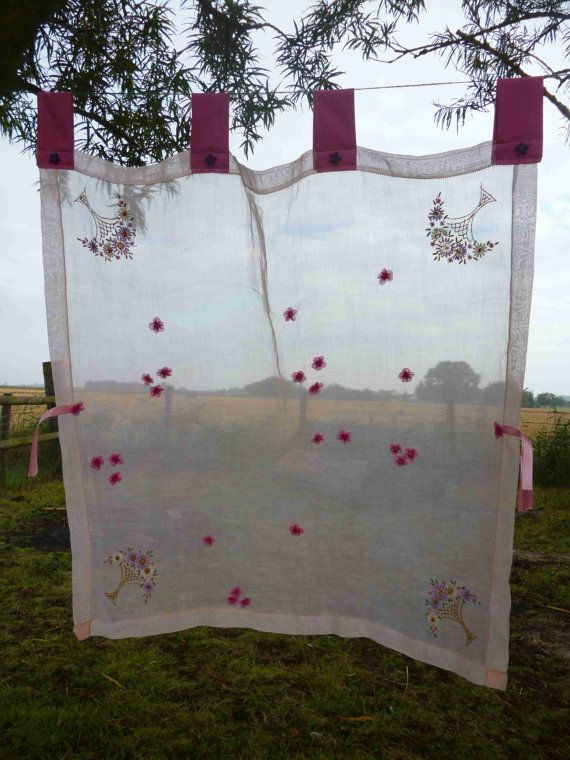 74 Best Images About Vintage Curtains From Tablecloths On