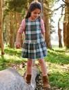 Pinafore Check Dress