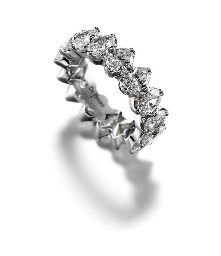 Wedding band from De Beers Allegria Full Oval Cut Diamond Band indianweddin