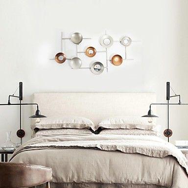 e-Home® decorazione della parete di arte della parete di metallo, decorazione della parete circolare pc uno – EUR € 119.99