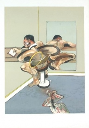 Francis Bacon - Figure Writing Reflected in a Mirror