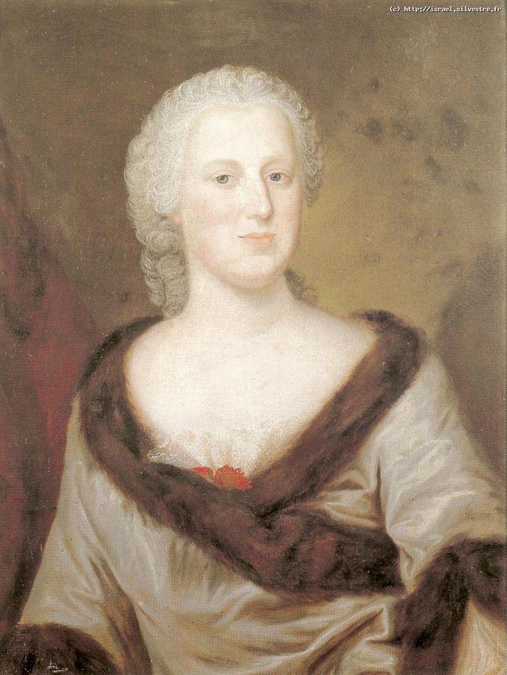 Louis de Silvestre Maria Anna z Kolowratow Brühlowa 1742 H : 69 X L: 50 Huile sur toile