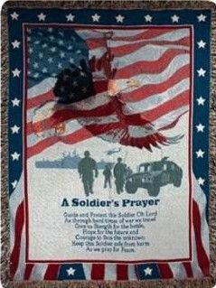 A Soldier's Prayer Afghan Throw