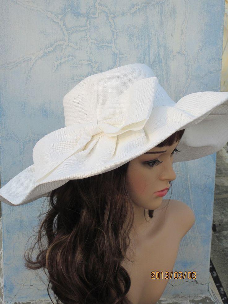 Aliexpress.com: Lu 's storeより信頼できる 帽子キャップ サプライヤから白いリネンの夏の女性の広いつばの太陽の帽子ケンタッキーダービー結婚式の教会海のビーチを購入します