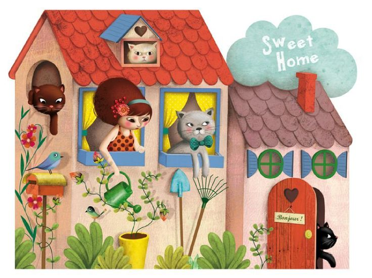 Home Sweet Home illustration by Marie Desbons
