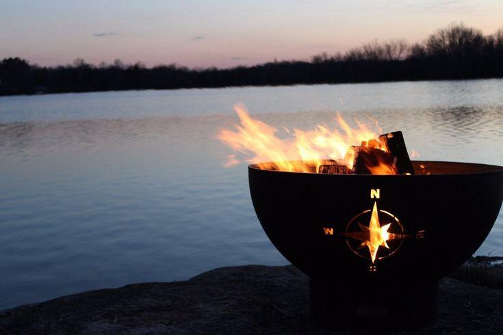 "Wood Burning Fire Pit - Fire Pit Art Navigator - 36"" Steel Fire Pit (NAV)"