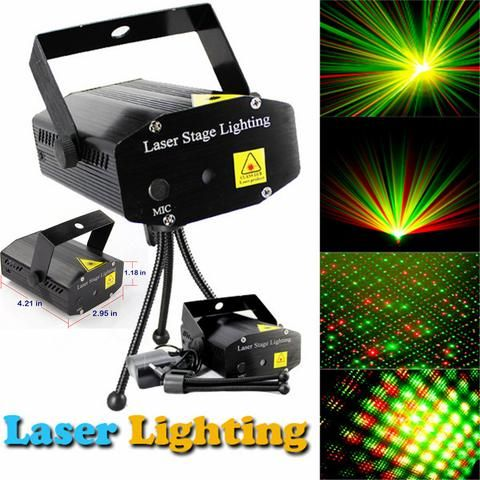 Mini LED R&G Laser Projector Stage Lighting Adjustment DJ Disco Club Party