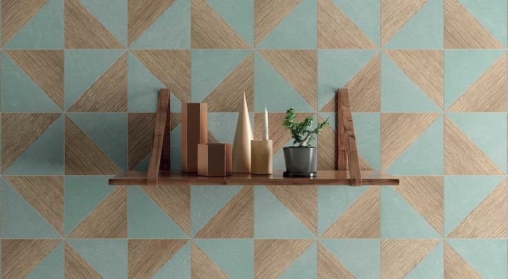 Trellis Triangles, squares, hexagons, striking patterns made up of straight lines: Kronos Ceramiche continues to express its innate vocation for the resear