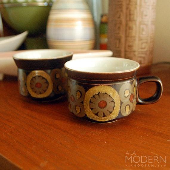2 Denby Arabesque Samarkand Tea Cups by alamodern on Etsy, $16.00