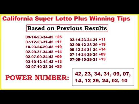 California Super lotto Plus Winning Tips for October 14, 2017 - (More info on: https://1-W-W.COM/lottery/california-super-lotto-plus-winning-tips-for-october-14-2017/)